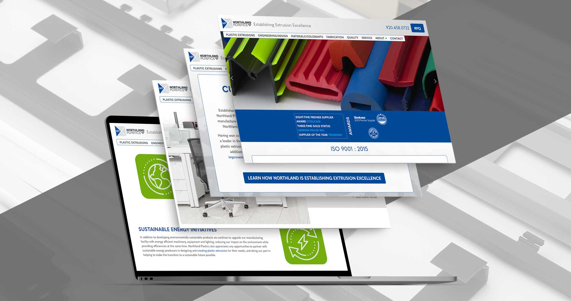 plastic manufacturing website design and marketing