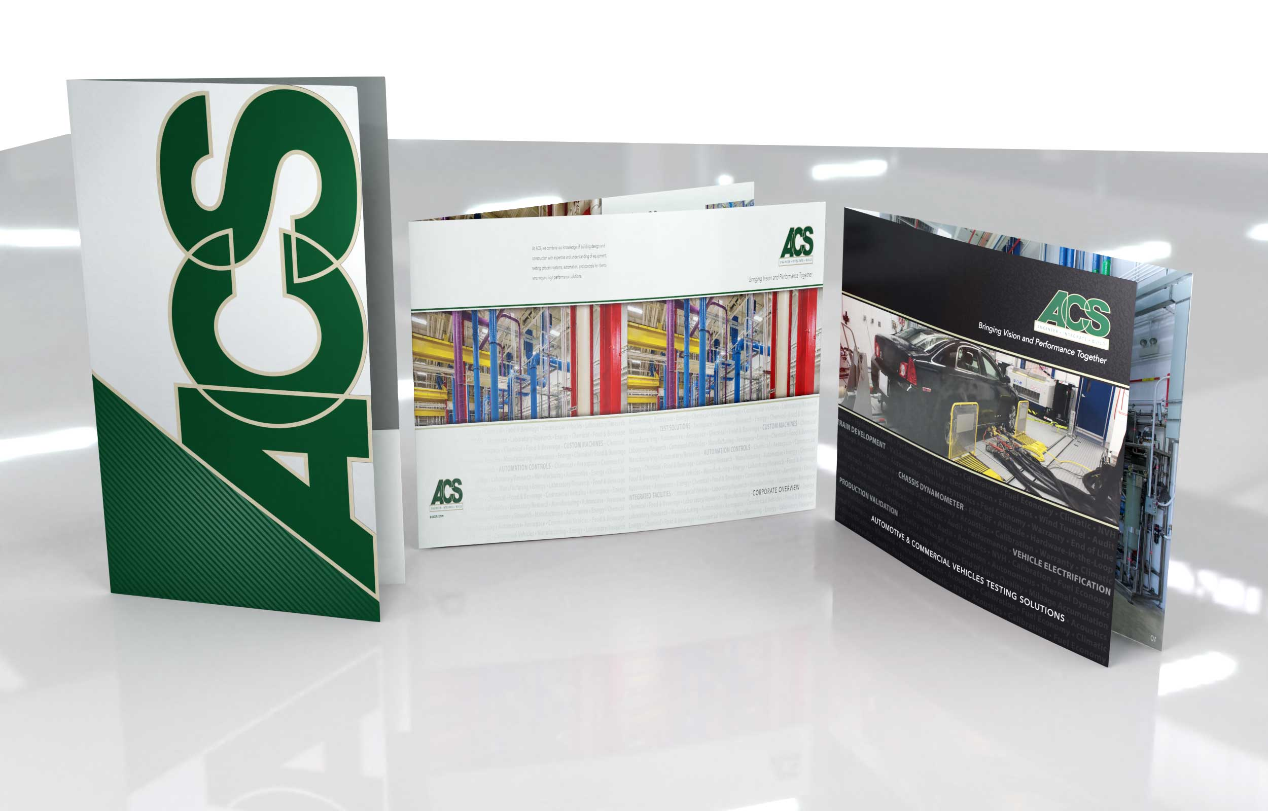NAVEO creates brand development strategy for ACS that includes new marketing collateral ideas.