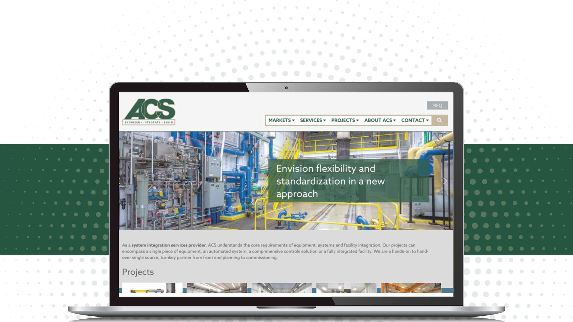 ACS has a new website courtesy of NAVEO's brand development strategy.
