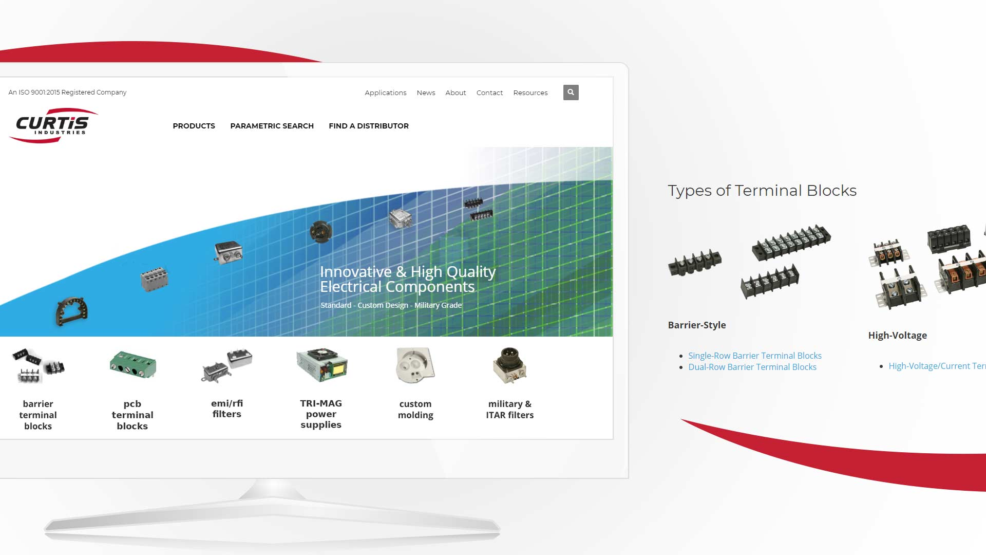 Milwaukee-based Curtis Industries partnered with NAVEO Marketing for industrial marketing strategy including a new website.
