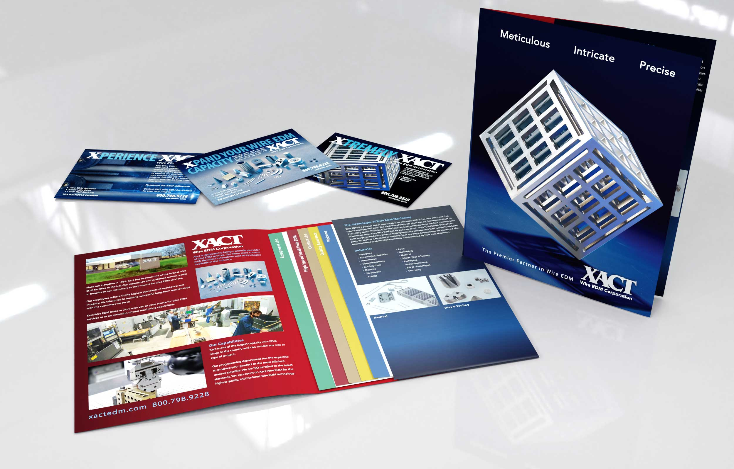 NAVEO marketing developed new marketing collateral ideas for client XACT as their web marketing agency.