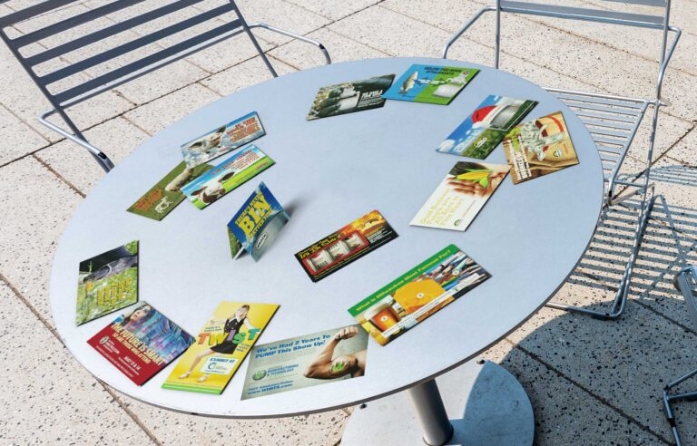NAVEO Marketing in Milwaukee will design a direct mail program for you like these colorful postcards.