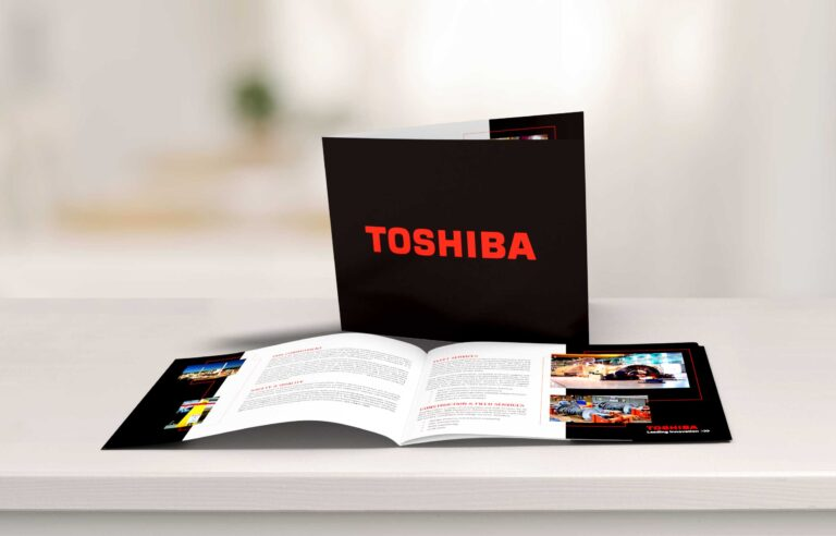 NAVEO partnered with Toshiba who used our print design services to create a brochure.