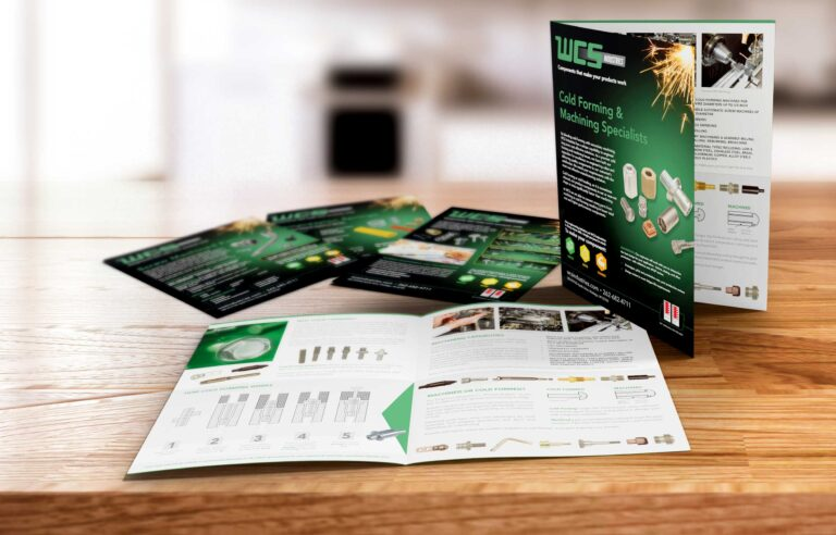 WCS looked to NAVEO Marketing in Milwaukee for print design services for their bold graphic brochure.
